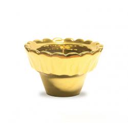 Лампада керам. золотая малая (уп.10шт.)