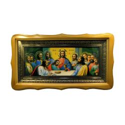 Икона Тайная вечеря в багете с рамкой вензель (уп.1шт)