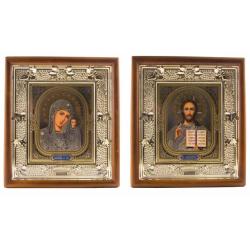 "Икона в киоте и рамке ""Лоза"", под стеклом (29х26см)"