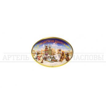 """Магнит """"С Рождеством Христовым"""" овал"""
