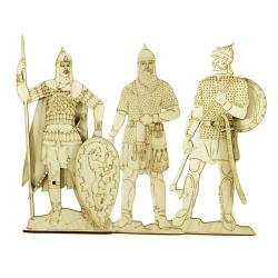 """Раскраска """"Русские воины"""", дерево (уп.10шт.)"""