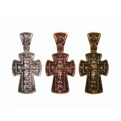 Крест нательный (метал. сплав) с молитвой (уп.220шт.)