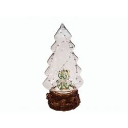 Фигурка  в стеклянной ёлке с подсветкой (JB193) (уп.1шт.)