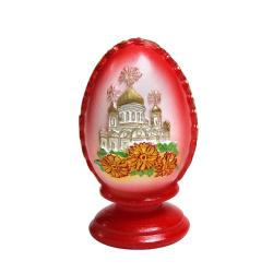 """Свеча Пасхальная """"Яйцо с храмом"""" (уп.24шт.)"""