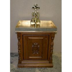 Панихидный стол с деревянным основанием песковой