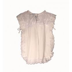 Платье крестильное с кружевом, 1-1,5л.(р.78-84, 100% хлопок) (белое,розовое)