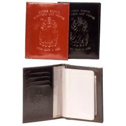 Обложка для В/ У с паспортом, тиснение Ангела хранителя, Пс. 90, 5504 Ан (кожа)