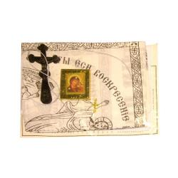 """Погребальный набор """"Казанская"""" (покрывало, наволочка, платок) ПОЛНЫЙ Комплект"""