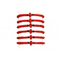 Чётки-браслет Комбоскини,красный (уп.10 шт.)