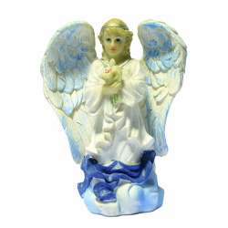 Фигурка ангела гол. с лилией (размер 12см) (уп.4шт.) GS-09193