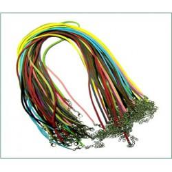 Гайтан замша с карабином 50см (цвета в ассорт.) (уп. 100 шт.)