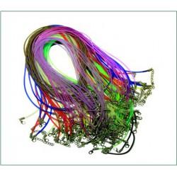 Гайтан каучук с карабином 50см разноцветный (цвета в ассорт) (уп. 100 шт.)