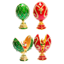 Яйцо пасхальное Фаберже с ликами (уп.1шт.)