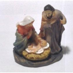 """Рождественская композиция малая """"Св.Семейство"""", 5см (уп.3шт.)"""