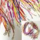 Гайтан шёлковый с замком карабином цветной (уп.100шт.)