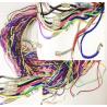 Гайтан шёлковый плетеный с замком винтом цветной (уп.100шт.)