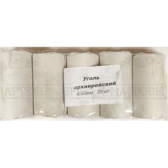 Уголь кадильный Архиерейский в пластинах, 60мм (20табл./пласт.)