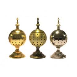 Кадильница металлическая (цвета:золото,серебро,латунь)