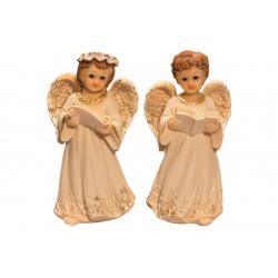 Фигурка ангела (бел.с золотом средний) (11,7см) (уп.4шт.)