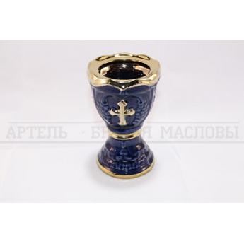 Лампада керам. с крестом (уп.1шт.)