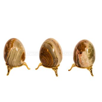 Пасхальные яйца из оникса большое с подставкой (уп.6шт.)