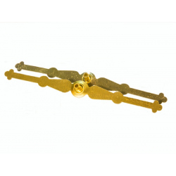 Поплавок металл. желтый Большой 14,5см (уп.50шт.)