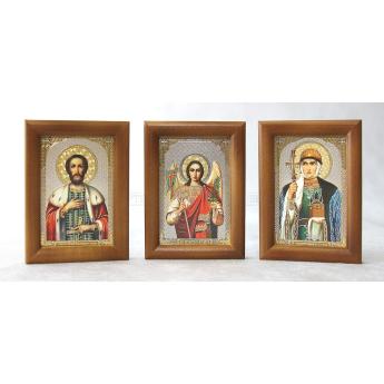 Комплект 60 икон в дер.рамке под стеклом (58*84мм)