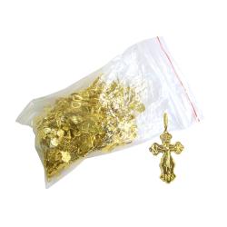 Крест нательный желтый (уп. 100шт.) ОТГРУЗКА ТОЛЬКО УПАКОВКАМИ