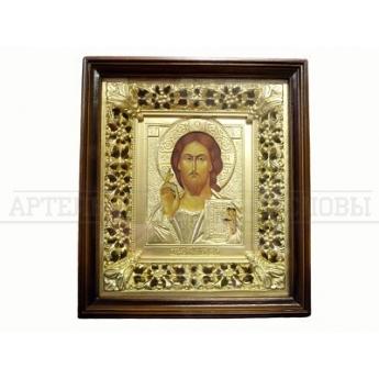Икона в киоте и багете Спаситель (31,5*35,5см)