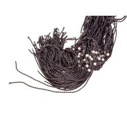 Гайтан шёлковый детский со жгутом и кольцом черный (уп.100шт.)