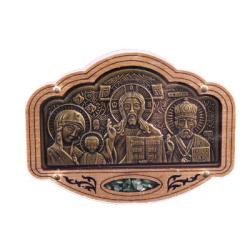 """Триптих керам. в авто """"Иерусалим"""" с ладаном (уп.30шт.)"""