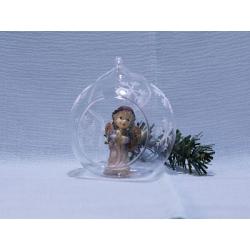 Ангел в стеклянном шаре (G1-65) (уп.1шт.)