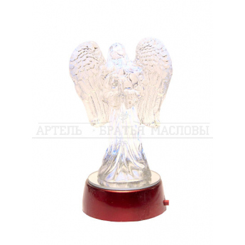 Ангел стеклянный светящийся большой (размер 12см) (уп. 1шт.)