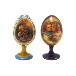 Яйцо ХВ с иконой большое на подставке, ручная работа (уп.1шт.)
