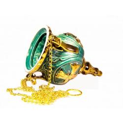 Лампада керам. подвесная Золотой крест
