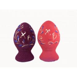 Яйцо пасхальное (бархат,керамич.) (уп.5шт.)