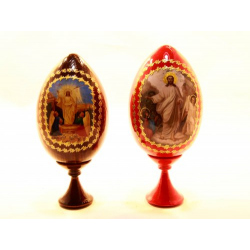 Яйцо ХВ с иконой малое, дерево (уп.10шт.)