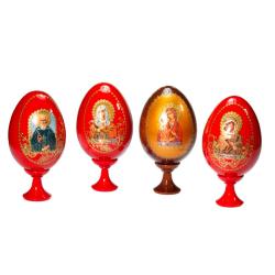Яйцо ХВ с иконой среднее, дерево (уп.10шт.)