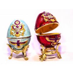 Яйцо пасхальное Фаберже с орлом (уп.1шт.)