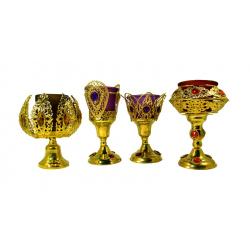 Лампада золото цветная (красная,фиолетовая) (уп. 1шт.)