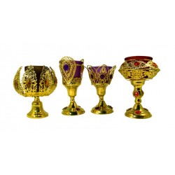 Лампада золото цветная