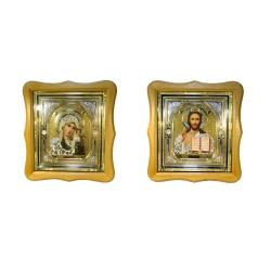 Икона в багете с золотой ризой и стразами,26х28см (уп.2шт)
