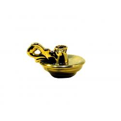 Подсвечник керам. Блюдце золото