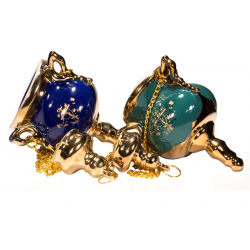 Лампада керам. подвесная с золотом