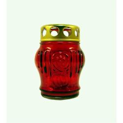 Лампада заливная ритуальная/неугасимая D-140 красная (уп.20шт.)