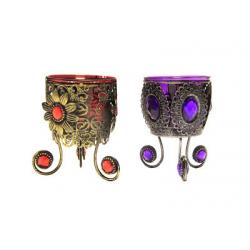 Лампада чеканная малая (фиолетовая,красная) (уп.2 шт.)