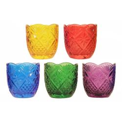 Лампада стекл.Тюльпан, в ассорт.(уп.12шт.)