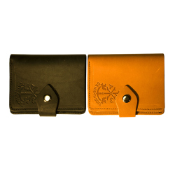 Мужское полнокупюрное портмоне на кнопке,кожа 7145