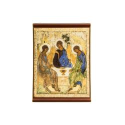 Икона на ткани подвесная Троица (Рублёв), 45*35см. (уп.5шт.)