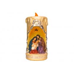 """Рождественская комп.""""Св.Семейство в свече"""",16см (уп.1шт.)"""